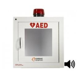 Gabinete con Alarma y Luz Estrobiscopica Cardiac Science